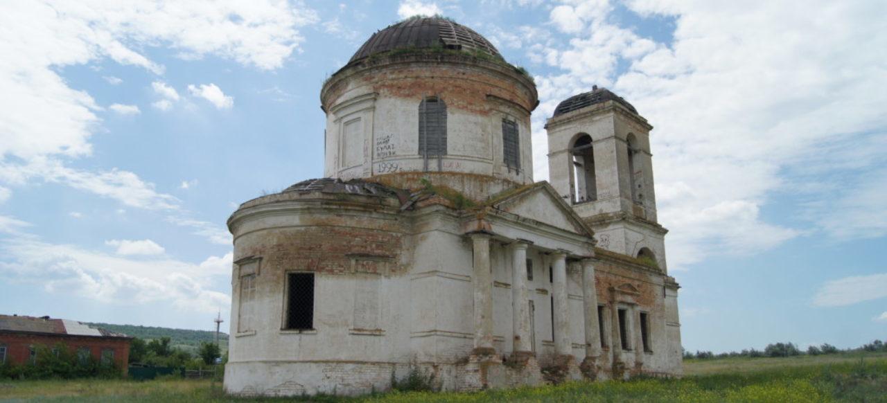 Храм Воскресения Христова в селе Ахмат Саратовской области